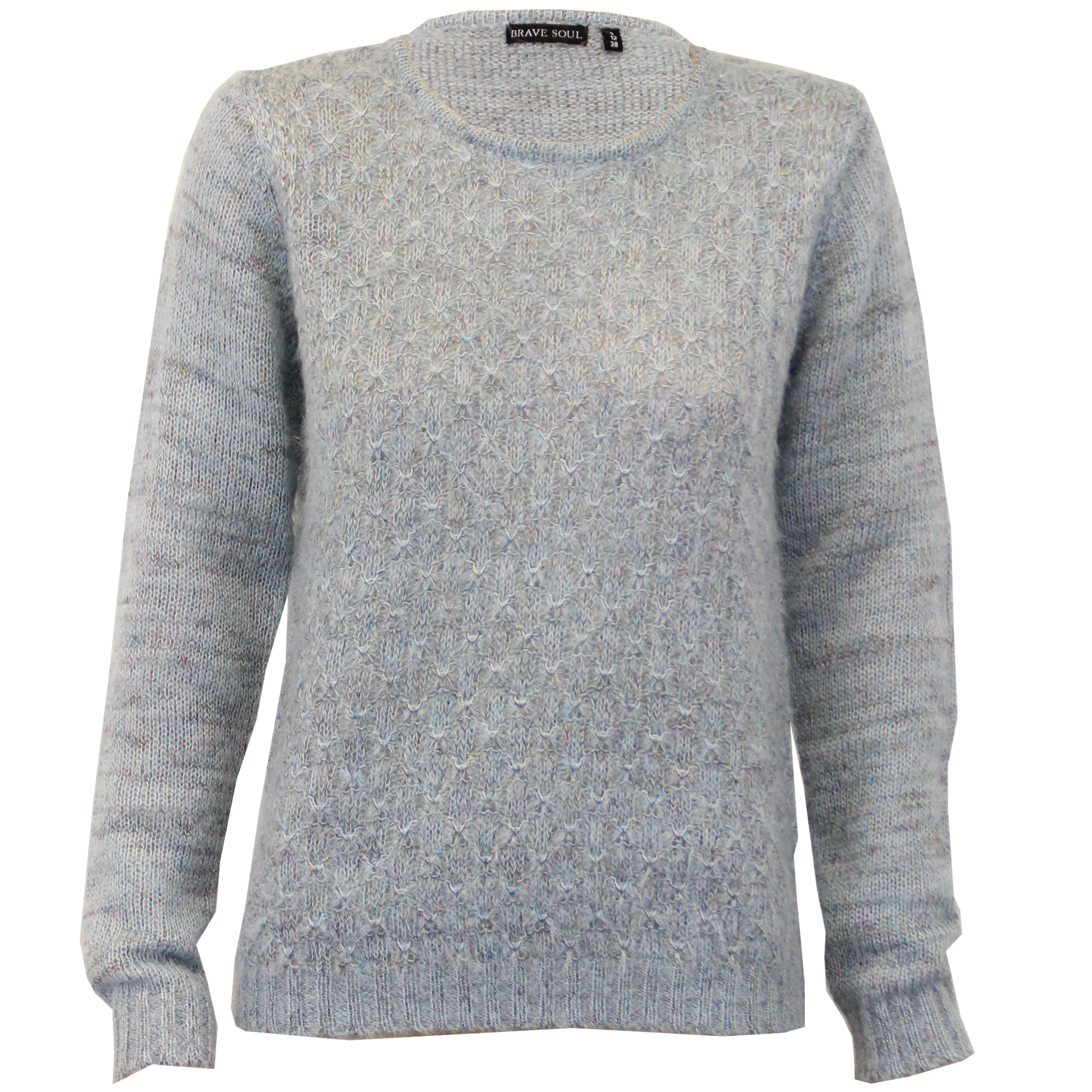 Ladies Mohair Jumper Brave Soul Womens Knitted Sweater Crew Neck ...