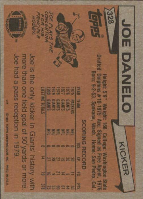 1981-Topps-Futbol-Tarjeta-Recoger-327-527 miniatura 3