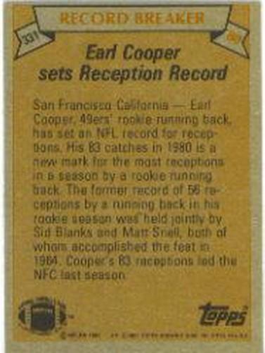 1981-Topps-Futbol-Tarjeta-Recoger-327-527 miniatura 5