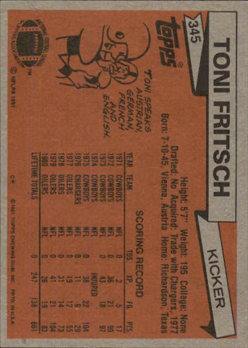 1981-Topps-Futbol-Tarjeta-Recoger-327-527 miniatura 19