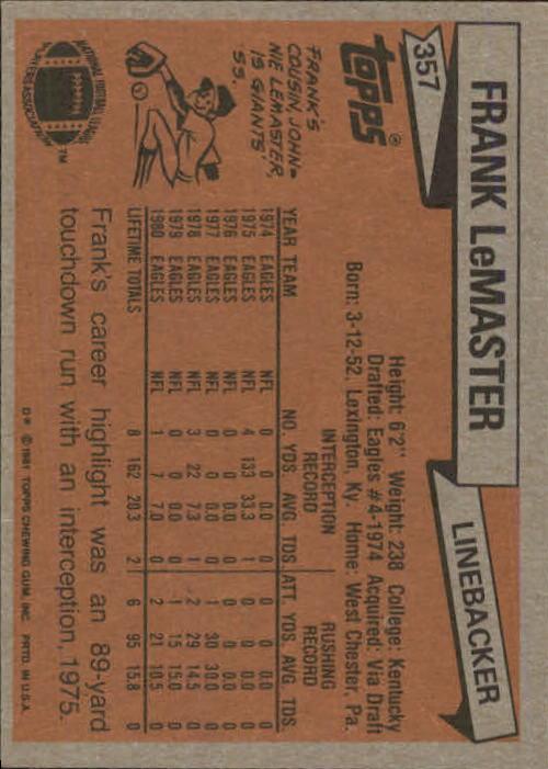 1981-Topps-Futbol-Tarjeta-Recoger-327-527 miniatura 31