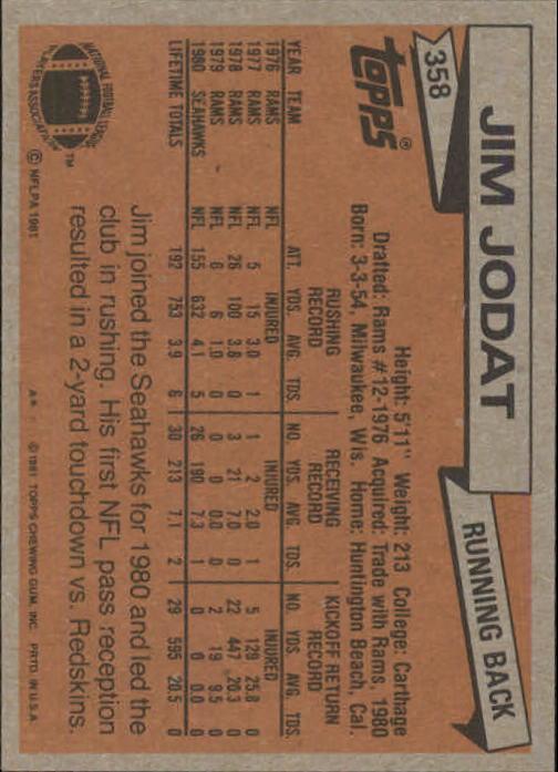 1981-Topps-Futbol-Tarjeta-Recoger-327-527 miniatura 33