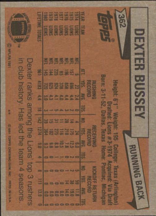 1981-Topps-Futbol-Tarjeta-Recoger-327-527 miniatura 35