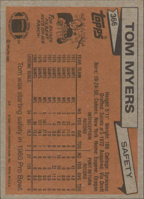 1981-Topps-Futbol-Tarjeta-Recoger-327-527 miniatura 43