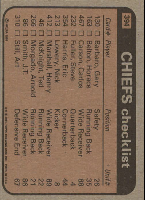 1981-Topps-Futbol-Tarjeta-Recoger-327-527 miniatura 81