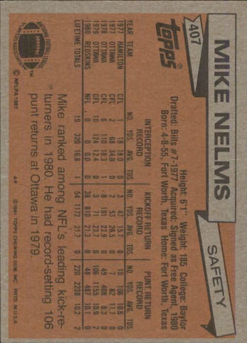 1981-Topps-Futbol-Tarjeta-Recoger-327-527 miniatura 93