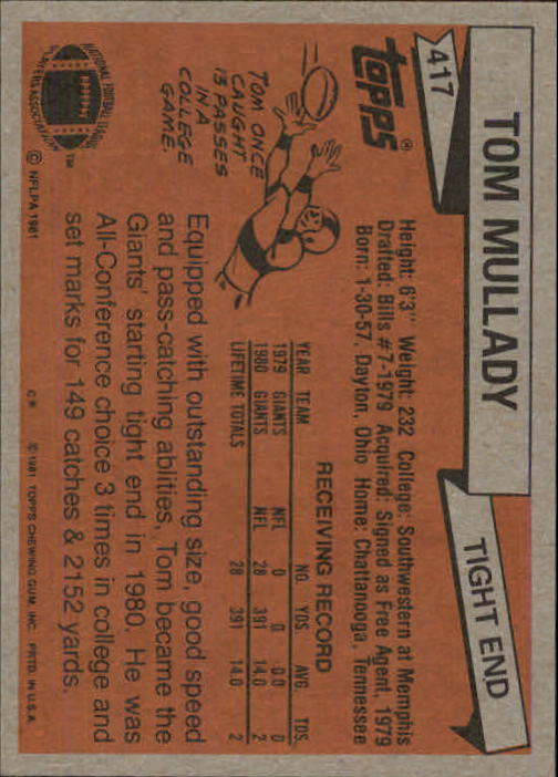 1981-Topps-Futbol-Tarjeta-Recoger-327-527 miniatura 103