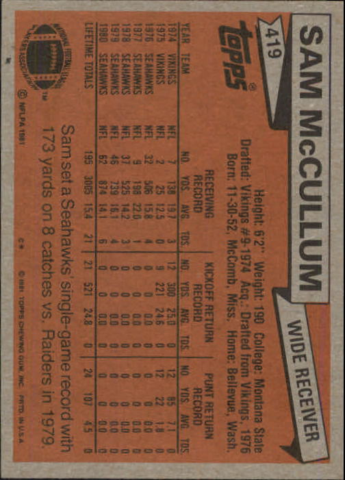 1981-Topps-Futbol-Tarjeta-Recoger-327-527 miniatura 105
