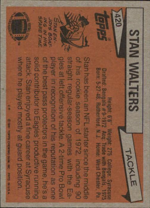 1981-Topps-Futbol-Tarjeta-Recoger-327-527 miniatura 107