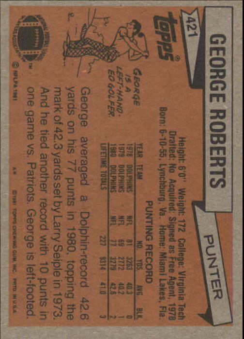 1981-Topps-Futbol-Tarjeta-Recoger-327-527 miniatura 109