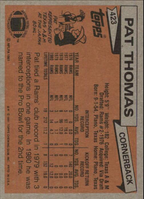 1981-Topps-Futbol-Tarjeta-Recoger-327-527 miniatura 111