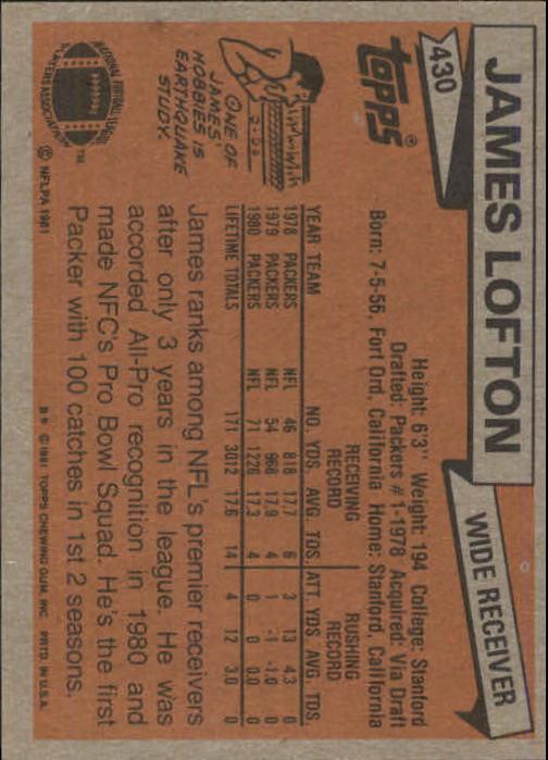 1981-Topps-Futbol-Tarjeta-Recoger-327-527 miniatura 119