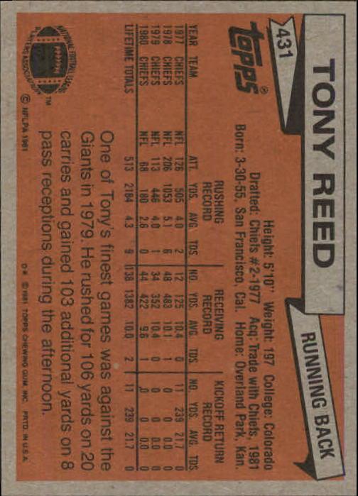 1981-Topps-Futbol-Tarjeta-Recoger-327-527 miniatura 121