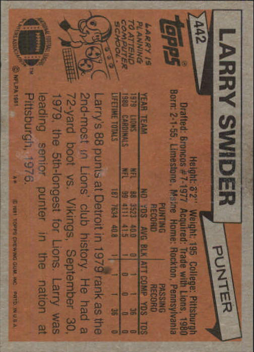 1981-Topps-Futbol-Tarjeta-Recoger-327-527 miniatura 135