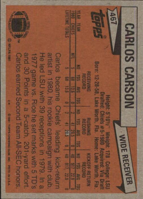 1981-Topps-Futbol-Tarjeta-Recoger-327-527 miniatura 169