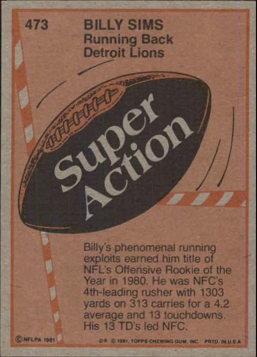 1981-Topps-Futbol-Tarjeta-Recoger-327-527 miniatura 175