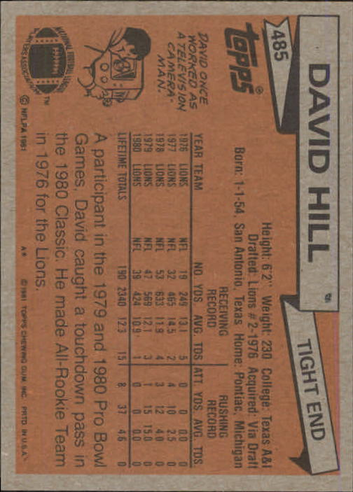 1981-Topps-Futbol-Tarjeta-Recoger-327-527 miniatura 185