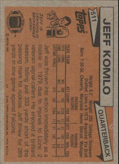 1981-Topps-Futbol-Tarjeta-Recoger-327-527 miniatura 203