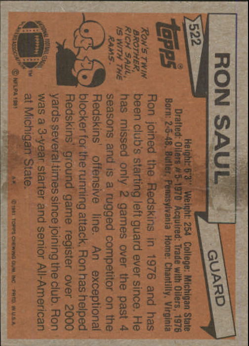 1981-Topps-Futbol-Tarjeta-Recoger-327-527 miniatura 217