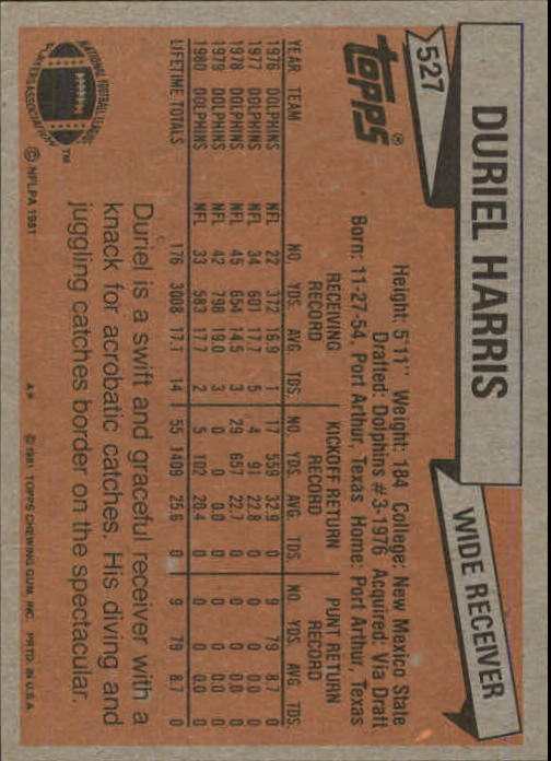 1981-Topps-Futbol-Tarjeta-Recoger-327-527 miniatura 221