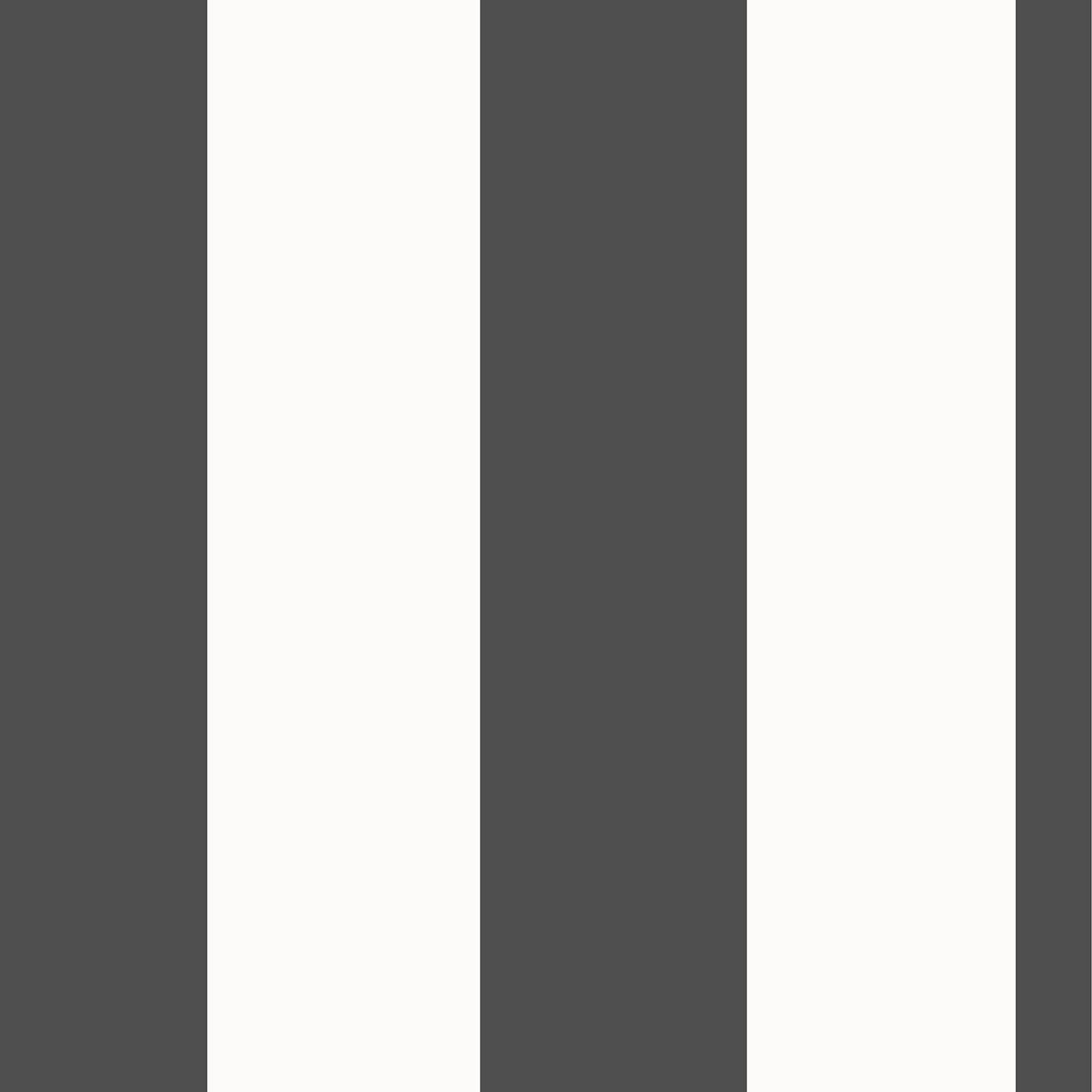 Rasch breit streifen tapete horizontal vertikal wei for Tapete schwarz silber