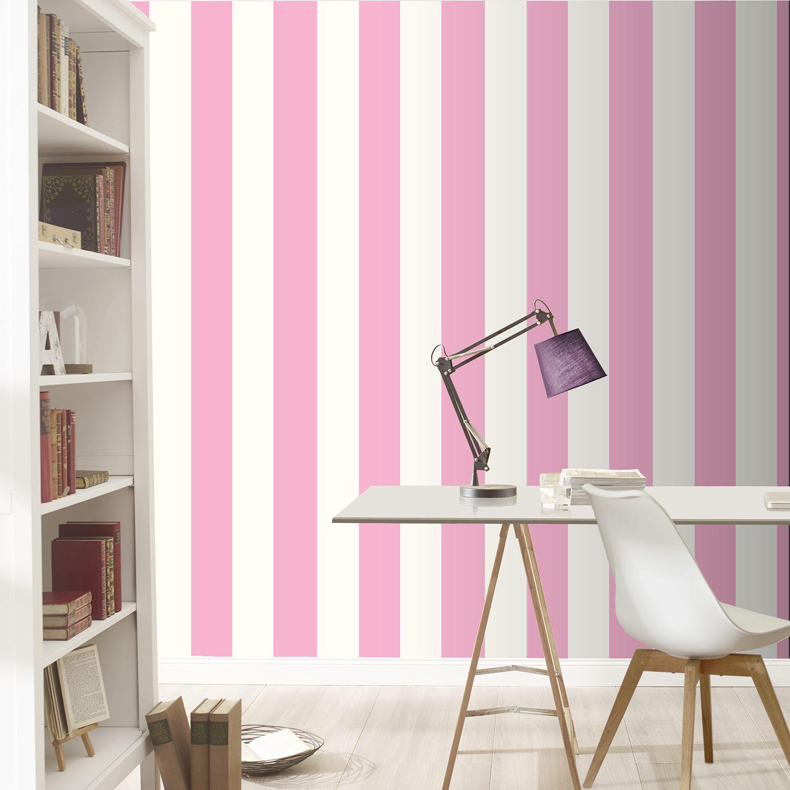 rasch breit streifen tapete horizontal vertikal wei silber rosa rot schwarz ebay. Black Bedroom Furniture Sets. Home Design Ideas
