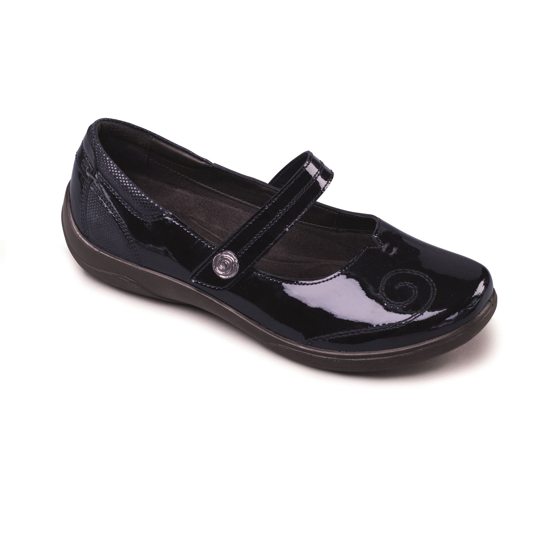 Padders-Mujer-Cuero-Zapato-039-Letra-039-Doble-FIT-Sistema-Ultra-Ancho-eee-eeee-Fit