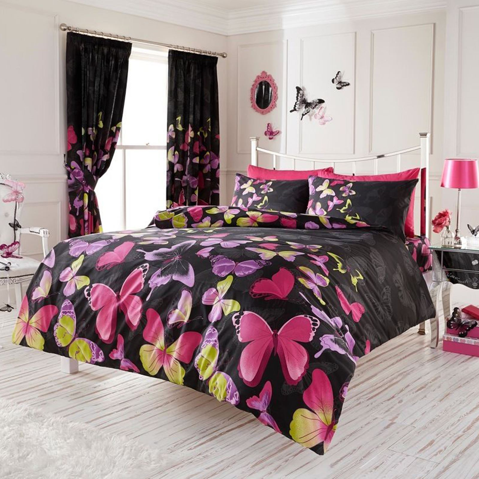 fashion butterfly single double or king size duvet cover sets new bedding ebay. Black Bedroom Furniture Sets. Home Design Ideas