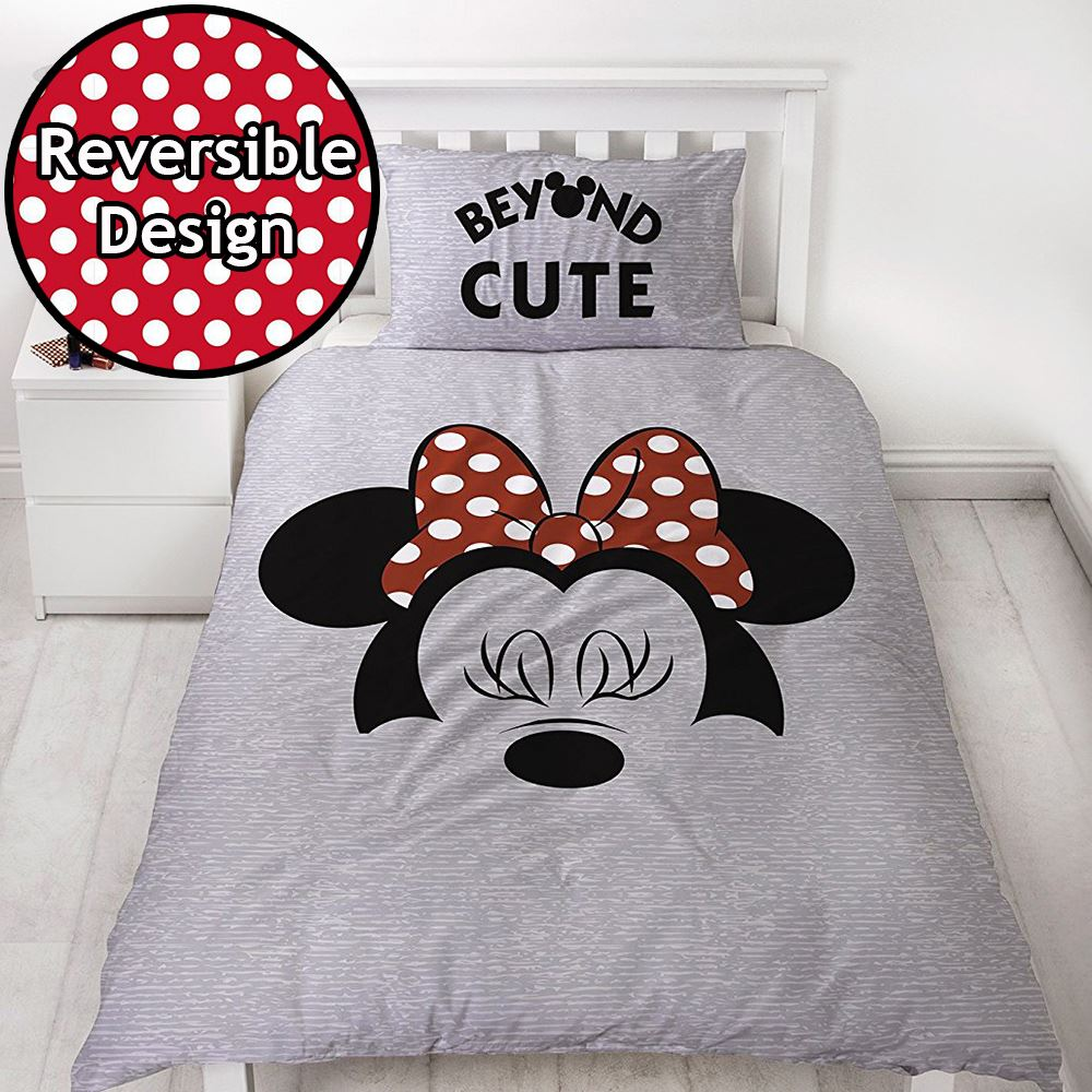 disney mickey minnie mouse einzeln junior bettbezug sets kinder bettw sche ebay. Black Bedroom Furniture Sets. Home Design Ideas