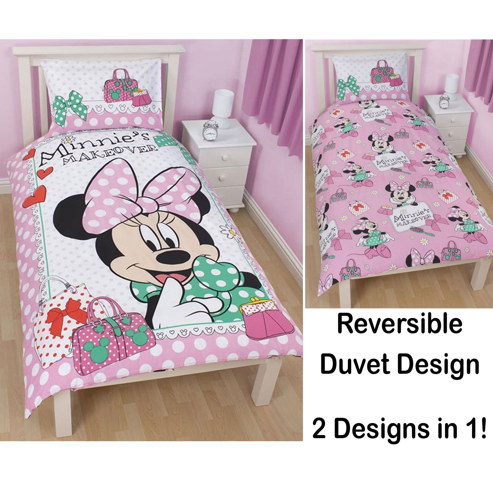DISNEY MICKEY MINNIE MOUSE HOUSSE COUETTE SIMPLE ENSEMBLES CHAMBRE