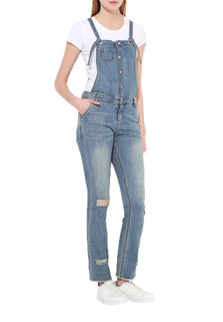 femmes baggy longue salopette jeans jeans salopette. Black Bedroom Furniture Sets. Home Design Ideas