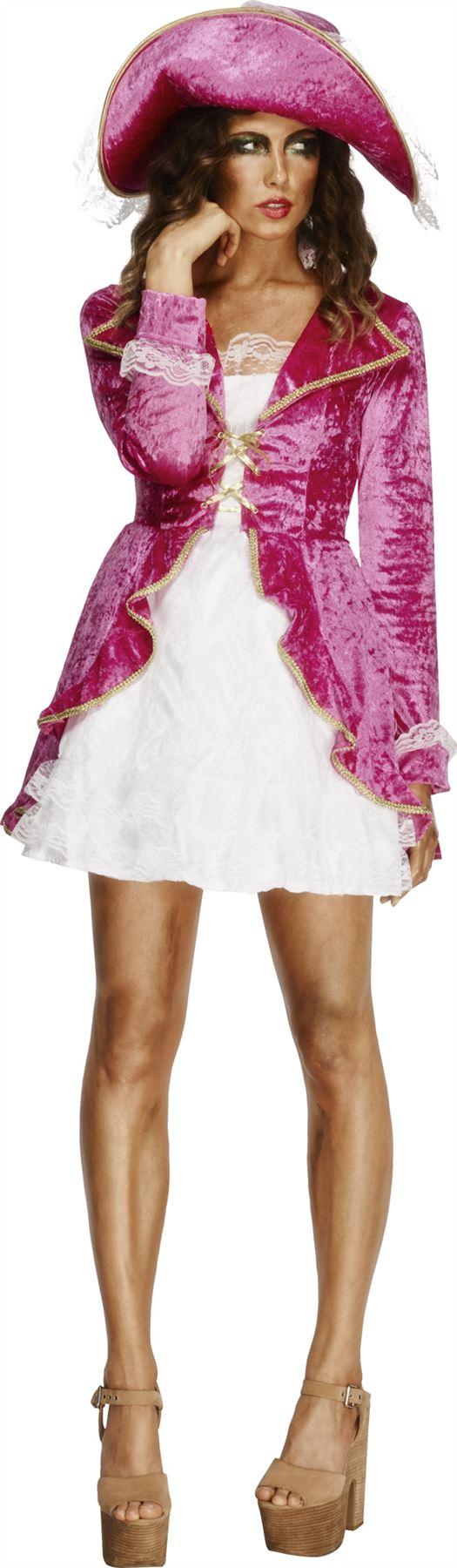 Smiffy-039-s-Femmes-Rose-Pirates-Chasse-Deguisement-30731