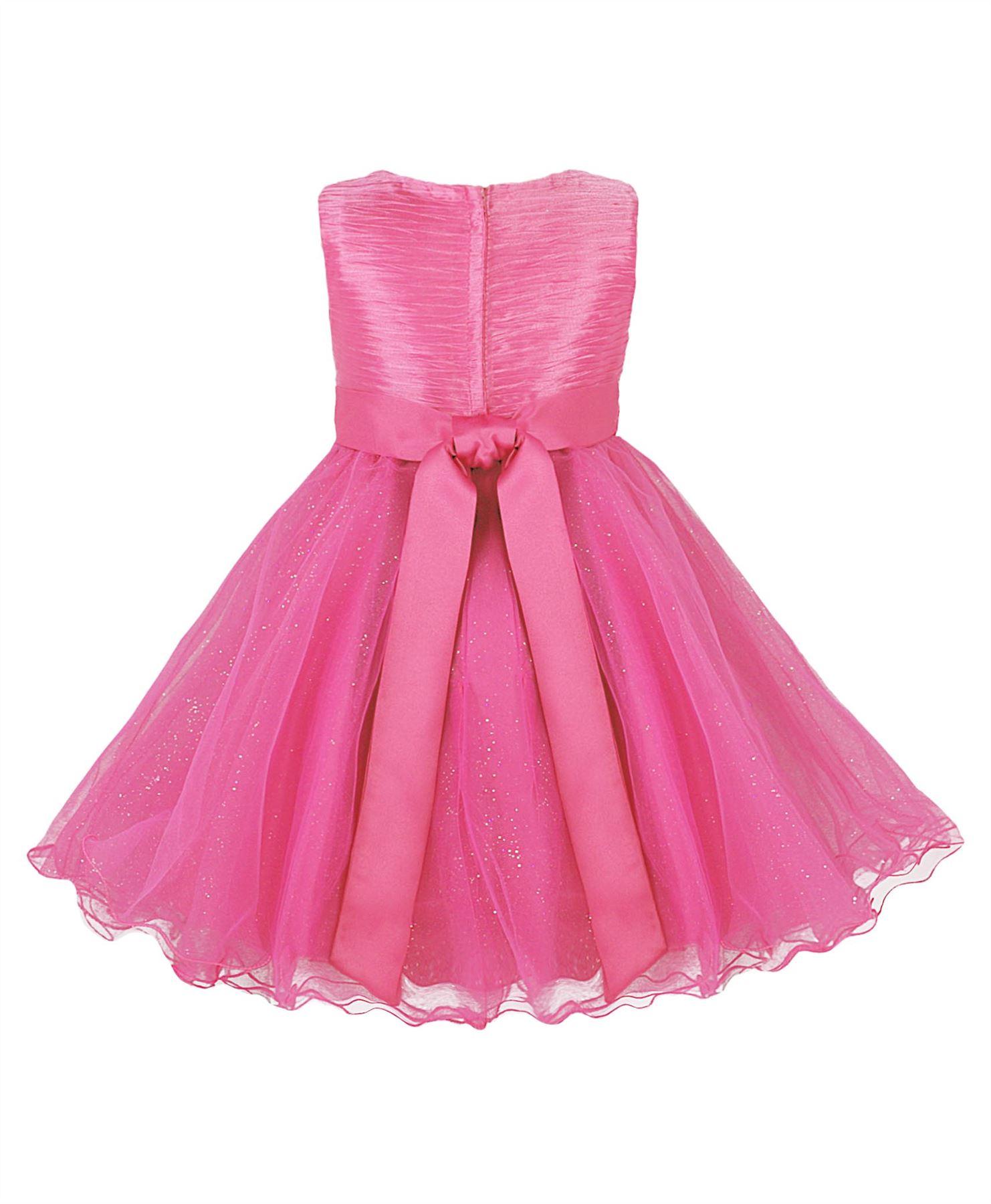 niña tul vestido de Fiesta Adorno Lazo Dama de honor boda madrina ...