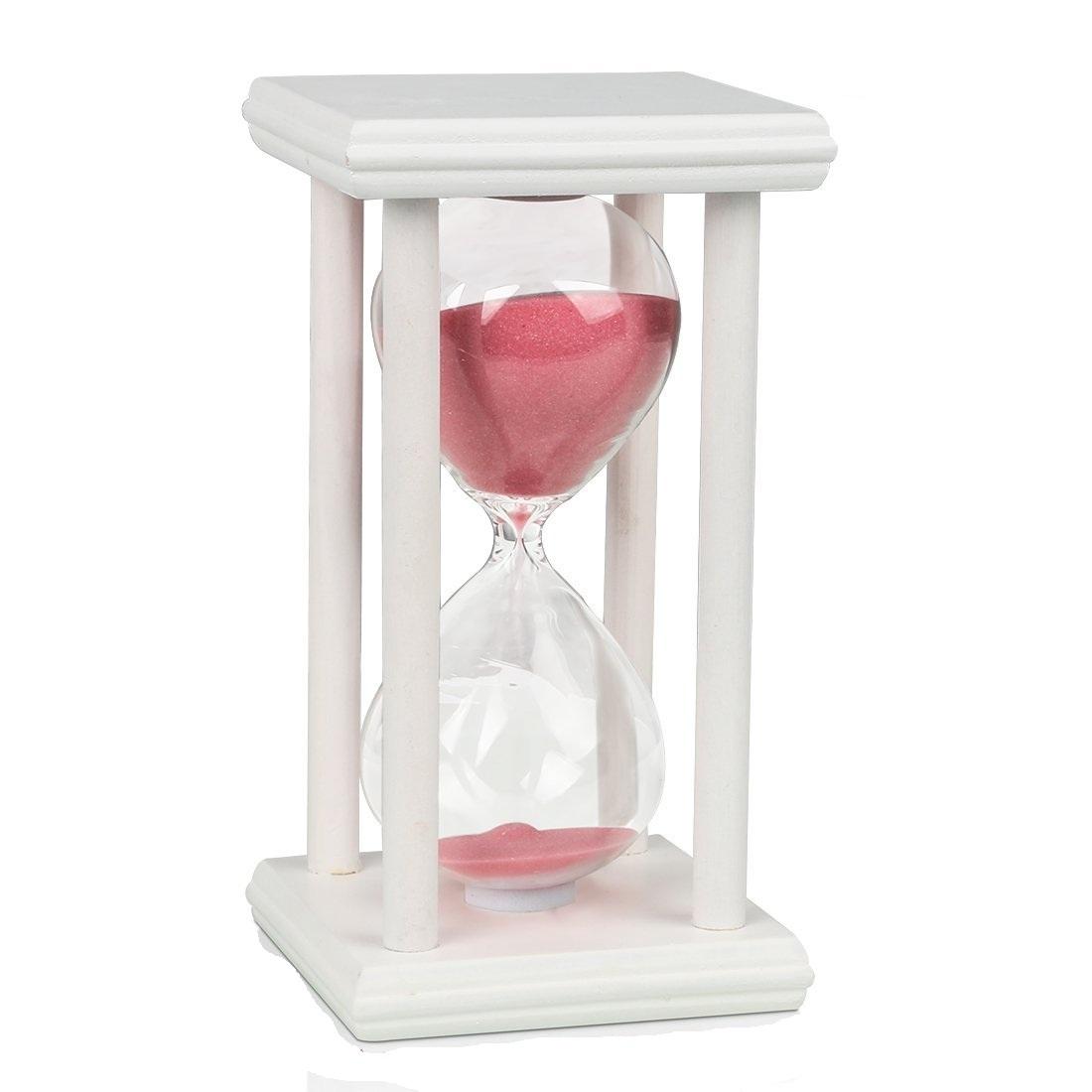 30-60-minutos-Rectangular-Madera-Arena-Cristal-Reloj-de-Decoracion-Hogar-GB