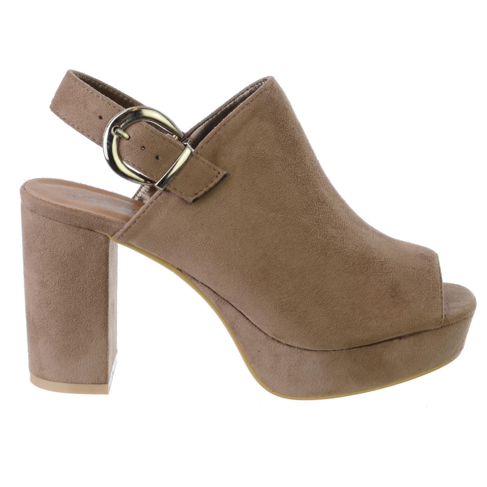 Damen hoch Blockabsatz Knöchelriemen Plateau Riemchensandalen Schuh Größe