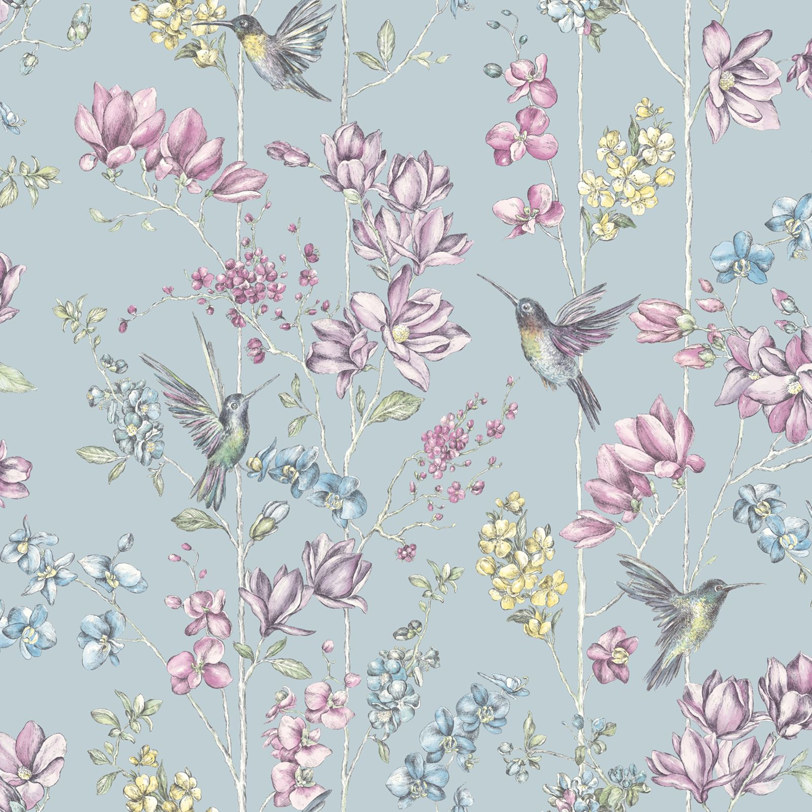 Floral Wallpaper Various Designs And Colours Flowers Roses Birds