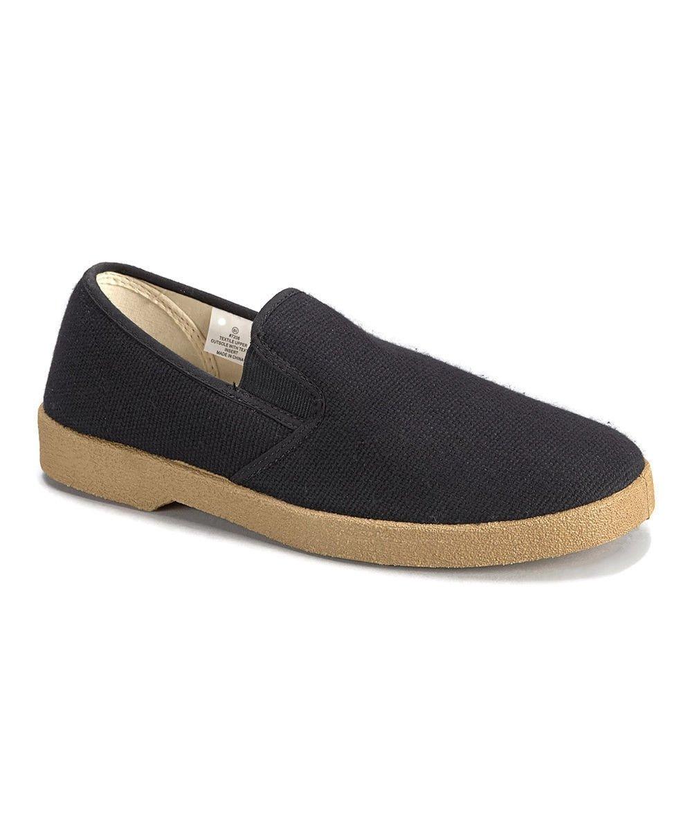 Zig Zag sin Cordones Informal Hombre Zapatos de Lona Negro Marino o Azul Marino Negro Tallas 0fd0d6