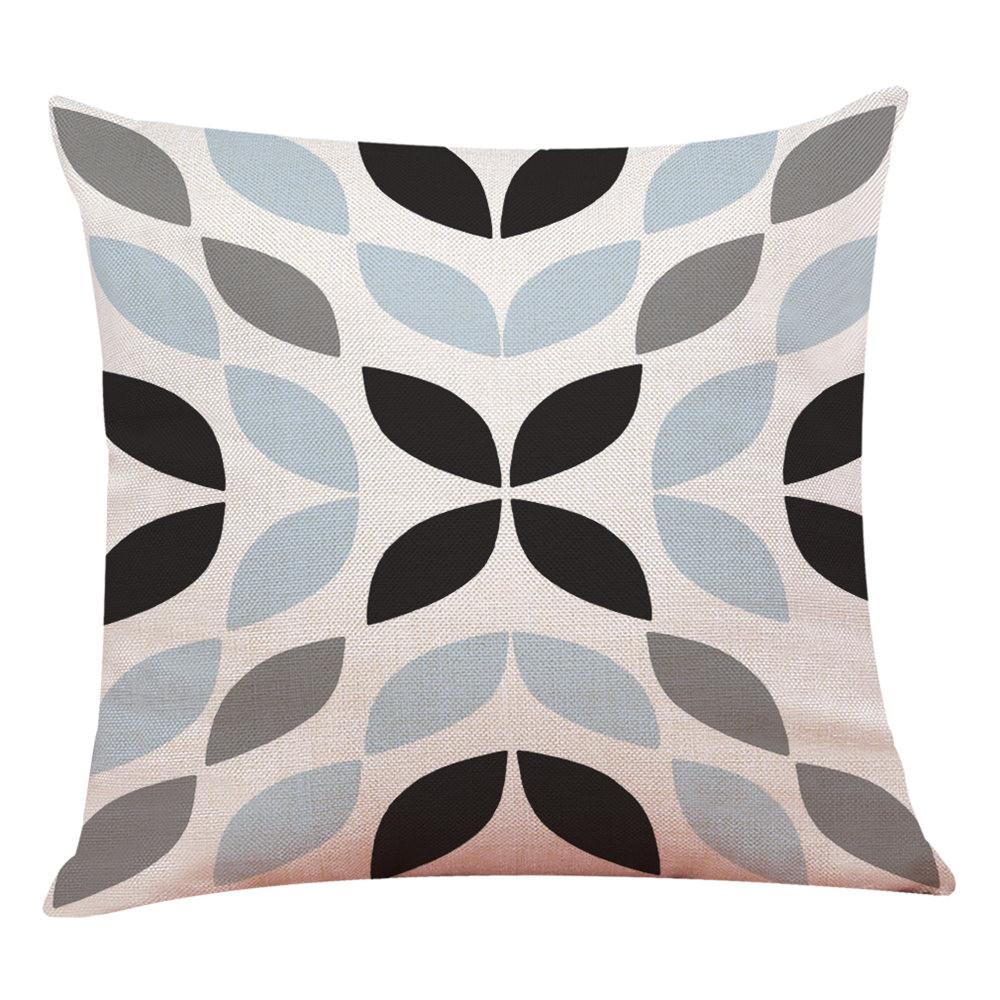 Decoracion-Hogar-Funda-de-Cojin-Simple-Geometrico-Manta-Almohada-Fucsia-Nuevo miniatura 5