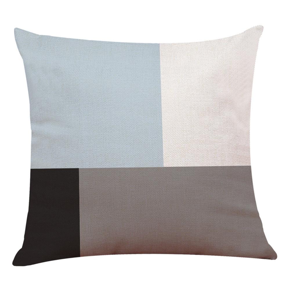Arredo-Casa-Copricuscino-Semplice-Geometrico-Copriletto-Federa-Cuscino-Cover miniatura 9