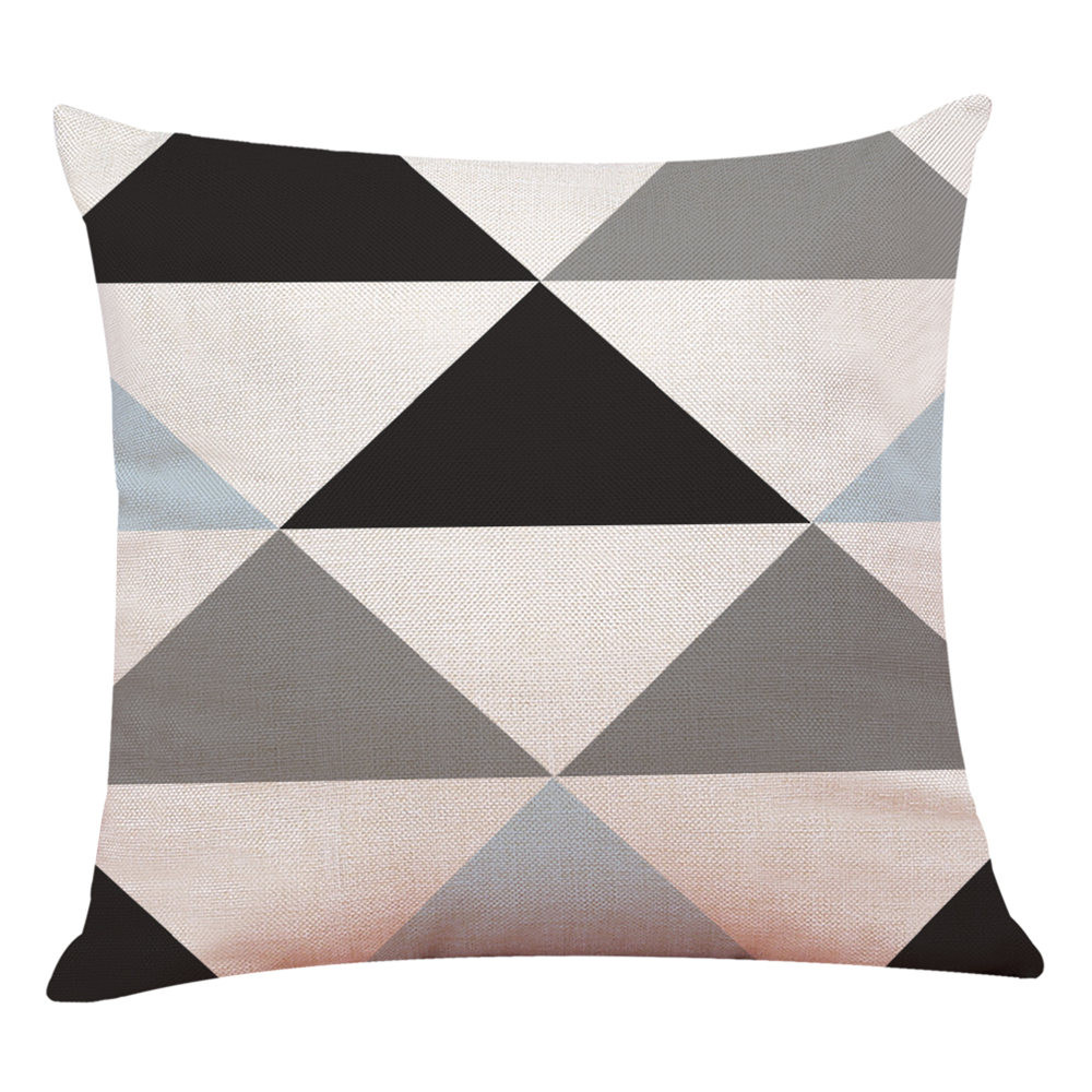 Arredo-Casa-Copricuscino-Semplice-Geometrico-Copriletto-Federa-Cuscino-Cover miniatura 13