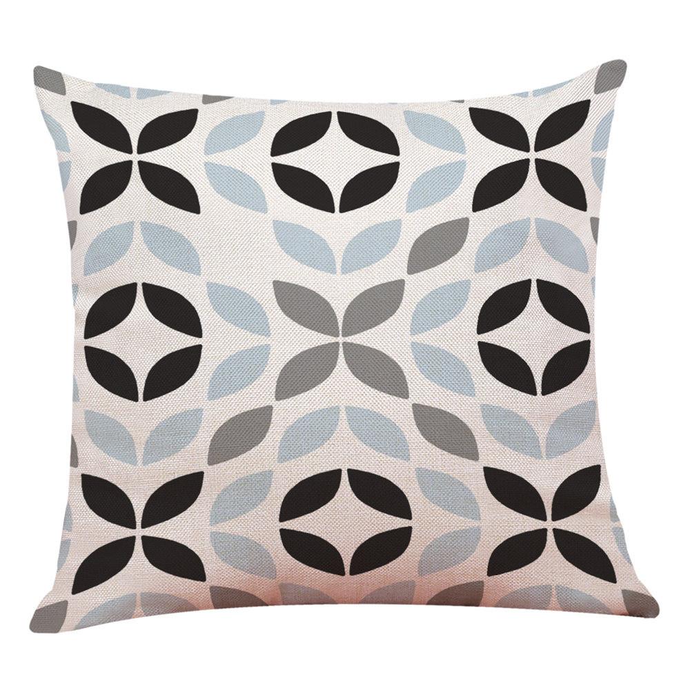 Decoracion-Hogar-Funda-de-Cojin-Simple-Geometrico-Manta-Almohada-Fucsia-Nuevo miniatura 15