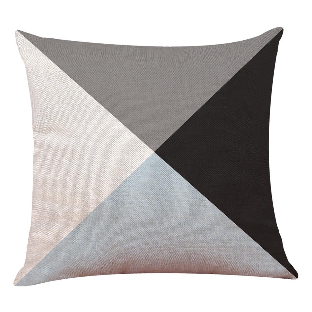 Arredo-Casa-Copricuscino-Semplice-Geometrico-Copriletto-Federa-Cuscino-Cover miniatura 21