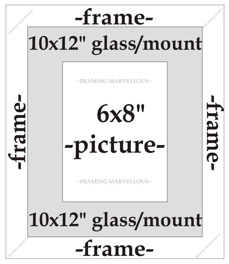 Massivholz Eiche Foto Bild Rahmen mit schwarze Fassung - Größe ...