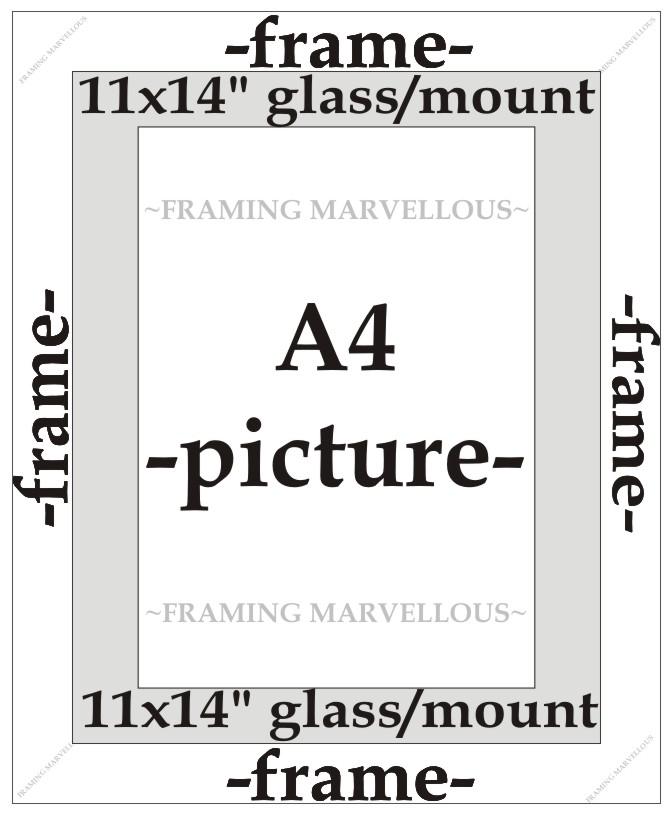 Blaue Oberfläche Foto Bild Rahmen mit Weiß Halterung - Größe wählen ...