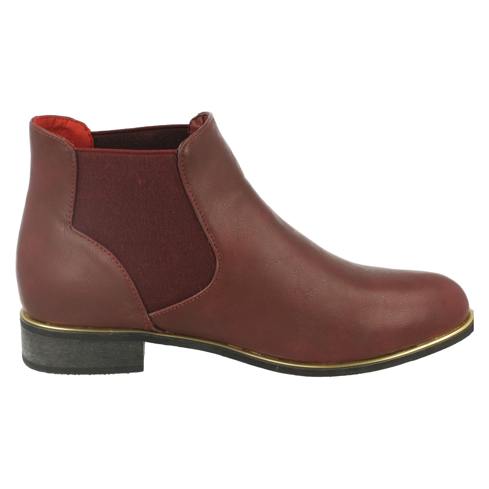 Ladies Spot On Tan Chelsea Ankle Boots Style F5R0259