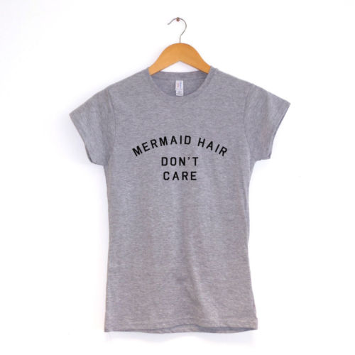sirene-cheveux-n-039-avez-SOIN-T-shirt-femme-nombreuses-couleurs-Tumblr-Mignon-HAUT