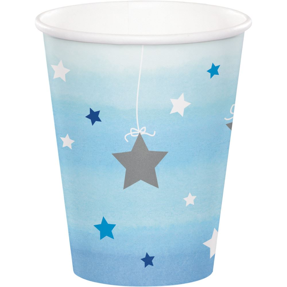 1-Cumpleanos-Brillante-Little-Star-Fiesta-Vajilla-decorativa-AZUL-baby-shower