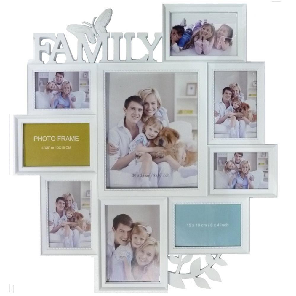 Sbalzato famiglia cornice portafoto multi foto da parete for Famiglia parete