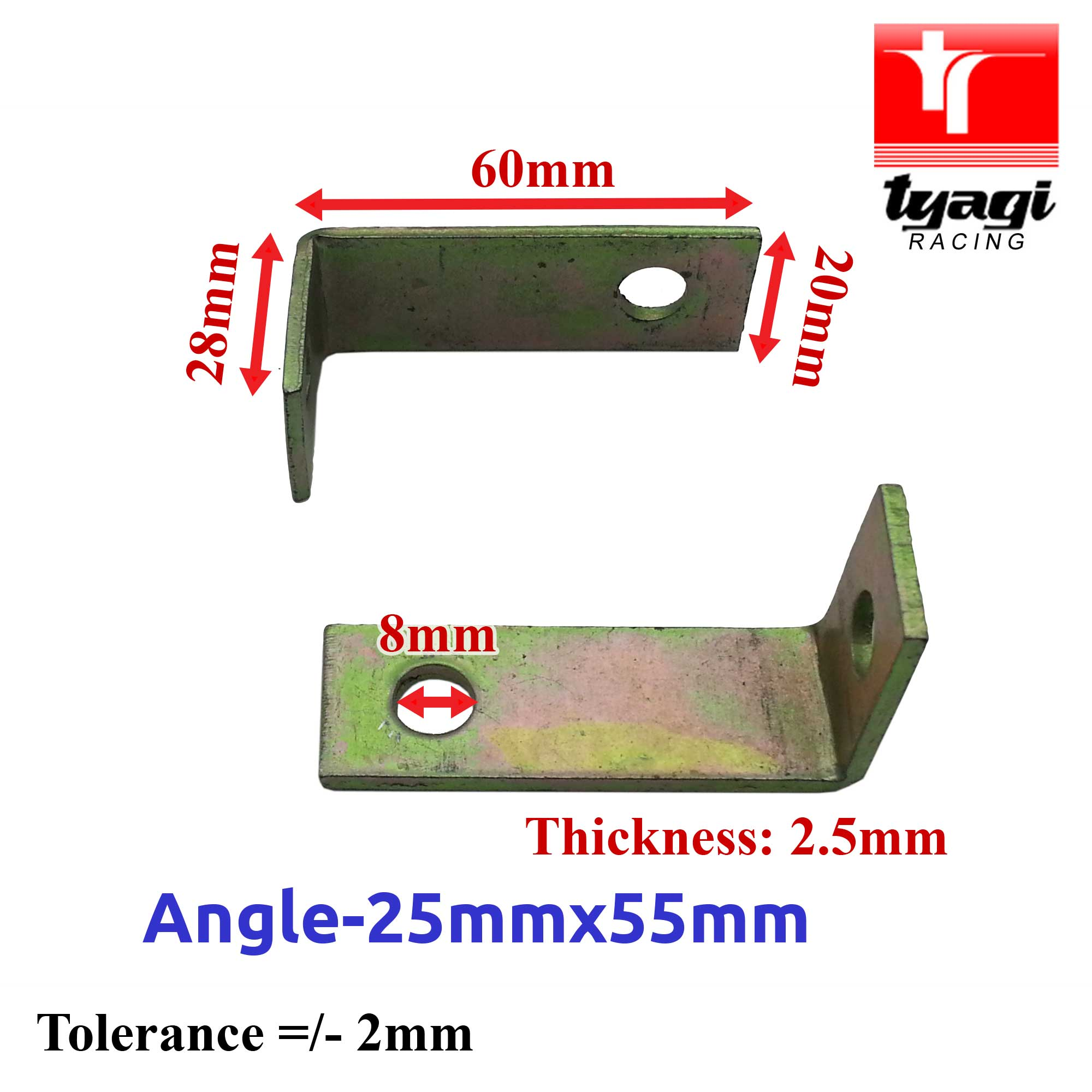Angled-Alternator-Mounting-Brackets-Car-Van-Truck-Various-Size-90-Right-Angle thumbnail 5