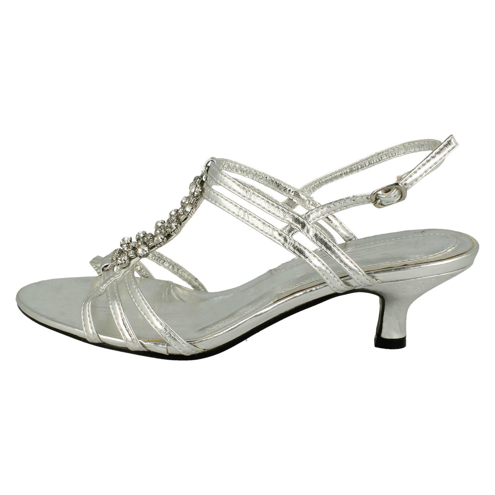 Donna Spot On tacco medio bordi con brillantini' Sandali cinturino alla caviglia
